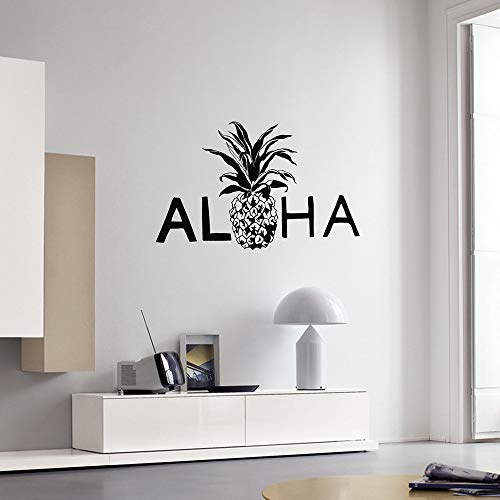 Calcomanía de pared piña Hawaii estilo playa hawaiana decoración de interiores pegatinas Mural dormitorio arte calcomanías Mural A8 36x57cm