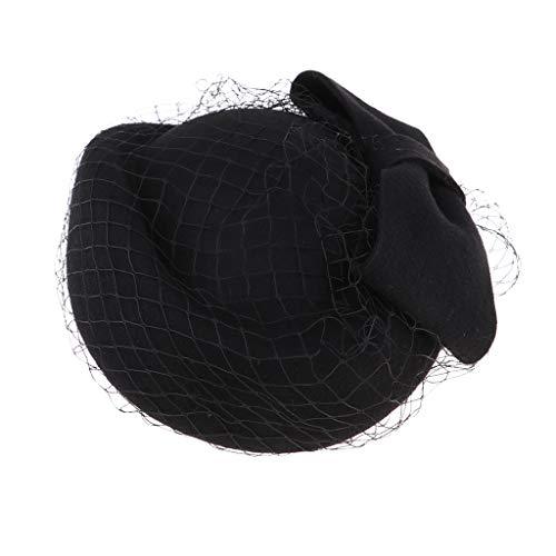 Baoblaze Ajustable Boina Velo Sombrero con Correa Elástica para Mujer Niña