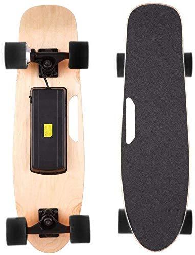 TFCFL Elektrisches Skateboard Longboard Skateboard City Scooter Elektrolongboard mit Fernbedienung und Motor Schwarz 20km/h