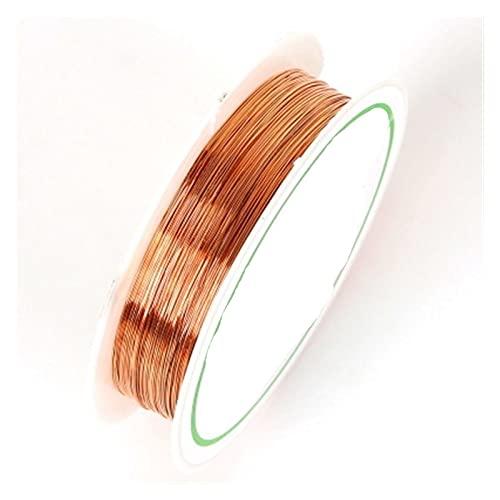 DJNCIA Artesanías de Bricolaje Colorfast de Cobre del Color para la Pulsera Collar de joyería de Bricolaje DIY Accesorios Craft Beading Wire para Artesanía, Creación de Arte,