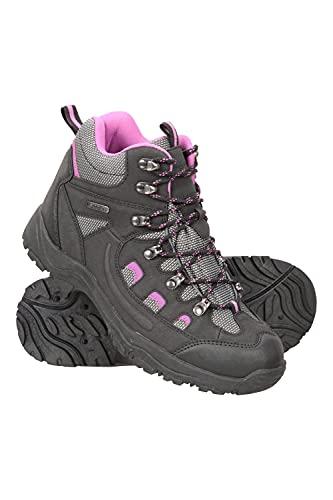 Mountain Warehouse Botas Adventurer Impermeables para Mujer - Duraderas, Transpirables, Empeine sintético y Plantilla Acolchada - Ideales para excursiones y Senderismo Negro Talla Zapatos Mujer 41 EU