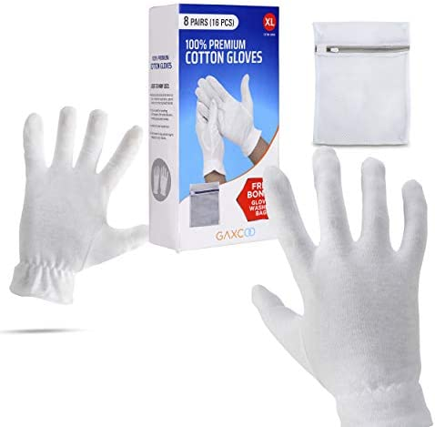 Extra Large XL Moisturizing Gloves OverNight Bedtime Cotton Cosmetic Inspection Premium Cloth product image