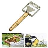 LIBRNTY 9Pz/Set Attrezzo per l'Apicoltura,Bee Hive Smoker,Pennello d'Api,Tappatura Grattatore,Grip Telaio,Arnia Strumento,Acciaio Inossidabile,Strumento per Apicoltori (attraversare)