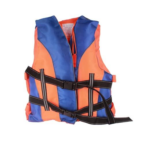 HTDZSW SicherheitszubehöR Rettungswesten Universal Schwimmweste mit Rettungsschwimmer Pfeife Geeignet für Rafting Paddeln Rettung Lebensrettung Angeln Segeln,Orange,One Size