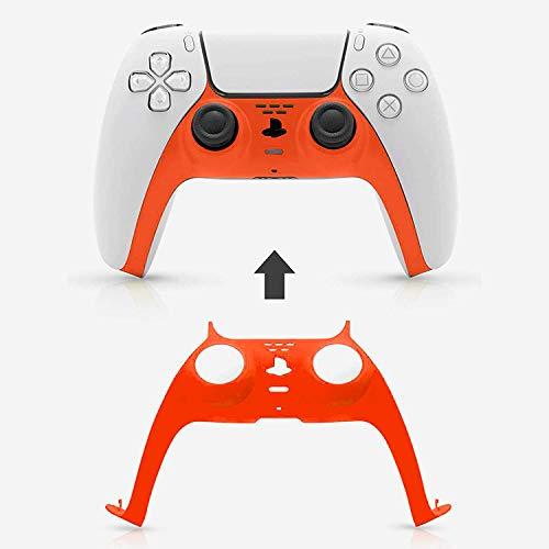 XXXVV Piel de Control de PS5, Accesorio de Cubierta de reemplazo de Placa Frontal DIY Personalizada, Cubierta de la Caja de la Cubierta de ABS para el Controlador inalámbrico DualSense PS5,Naranja