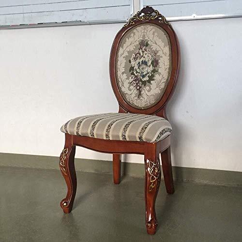 HYY-YY Esszimmerstühle Küchentheke Geschnitztes Gold Leaf Stuhl Retro American Hotel Dining Chair Home Zurück Stuhl Versammlung Einfache 2 Stück (Farbe: Braun, Größe: 52x50x106cm)