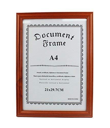 Marco para Diplomas, A4 Y A3, horizontal o vertical (A4 453 MARRON)