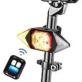 E-More Luz Trasera para Bicicleta, LED Luz Bicicleta USB Recargable con Mando a Distancia Impermeable Luces Intermitentes Direccionales Ciclismo luz de Advertencia para Bicicleta de Carretera