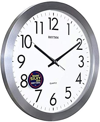 Wall Clocks Home Wall Clock Quartz Watch Illuminated Round Alarm Clock Silver Fashion,scanning