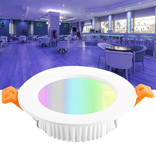 WHEEJE Smart WiFi Downlight Techo Techo Empotrado Emplancurero Empáneo LED LED Lámpara Lámpara de Lámpara Apertura 90mm 7W RGB Color Cambiador