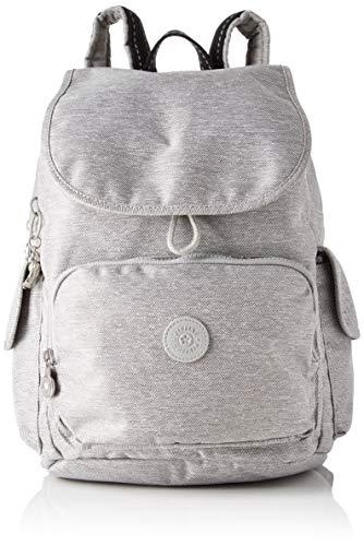 Kipling Damen City Pack Rucksack, Grau (Chalk Grey), 32x37x18.5 centimeters