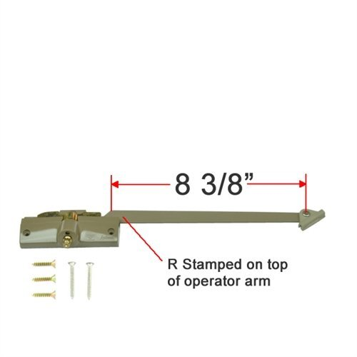 Andersen Straight Arm Operator (Right Hand) with 8-3/8' Arm Length in Stone Color (1974-1995)