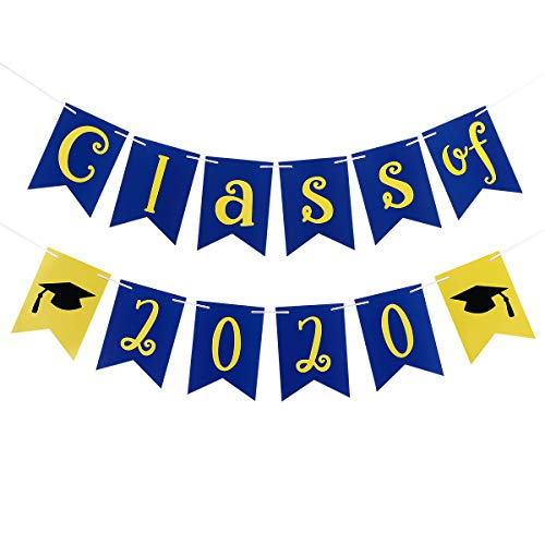 2020 Graduation Party Decorations,Class Of 2020 Banner- Graduation Party Decorations/Grad Party Decoration Supplies
