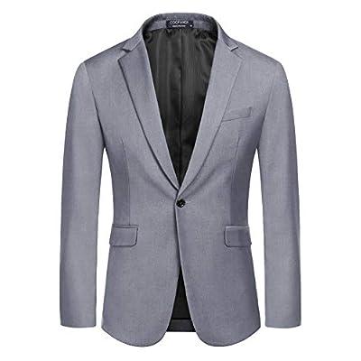 Amazon - Save 50%: COOFANDY Mens Slim Fit Sport Coat Blazer One Button Business Suit Jacket