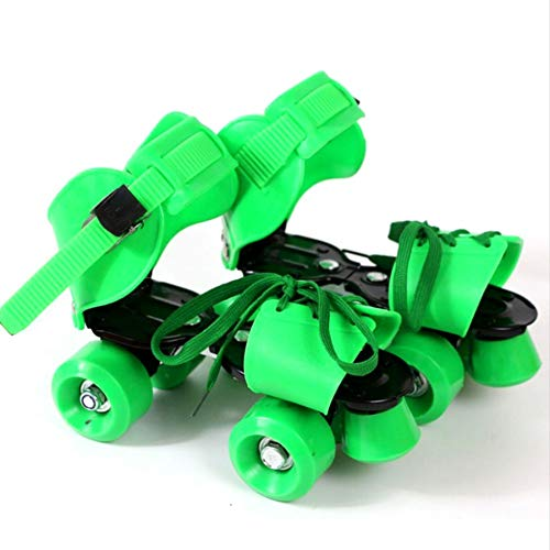 ZZZTWO Roller Skates Shoes for Kids, Girls Roller Skates Adjustable, Quad Skates Inline Skates for Girls and Boys Indoor Outdoor Green