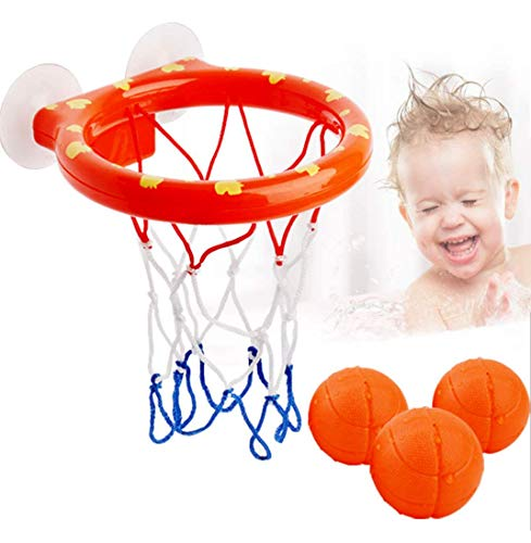 Colorful life Fun Basketball Hoop & Bath Toy Basketball Hoop Set for Toddlers Kids | Bathtub Shooting Game | Suctions Cups That Stick to Any Flat Surface | Fun Games Gifts in Bathroom with 3 Balls