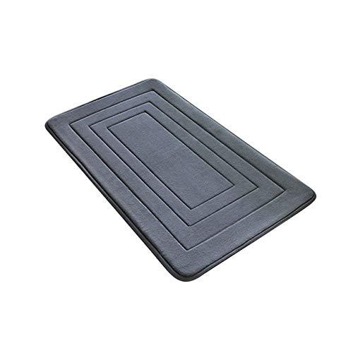 KEAINIDENI toiletmat 50 * 80 cm Memory Foam badmatten badkamer tapijt badkamer horizontale strepen tapijt anti-slip toilet badkamer tapijt wc mat deurmat 500MMx800MM DARK GRIJS