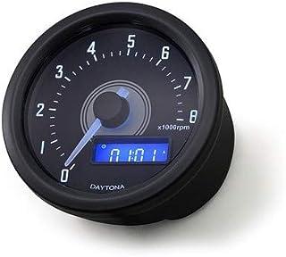H HILABEE 4000 RPM 85mm Marine Boat Tachometer Anzeige Tacho Meter LCD Hourmeter Schwarz