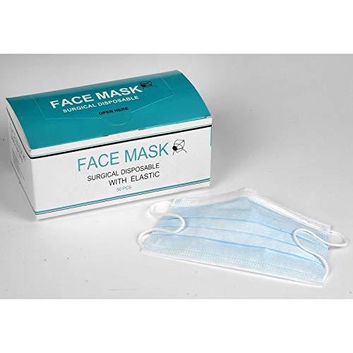 Prodhex – Máscara de cuidado (50 unidades, 3 pliegues, color azul)