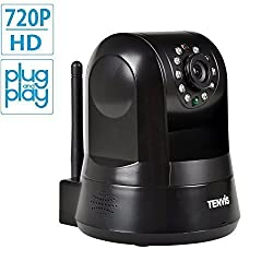 TENVIS IPROBOT3 H264 720P HD P2P Pan & Tilt Wirelss IPNetwork Camera with Two-Way Audio and Night Vision (Black
