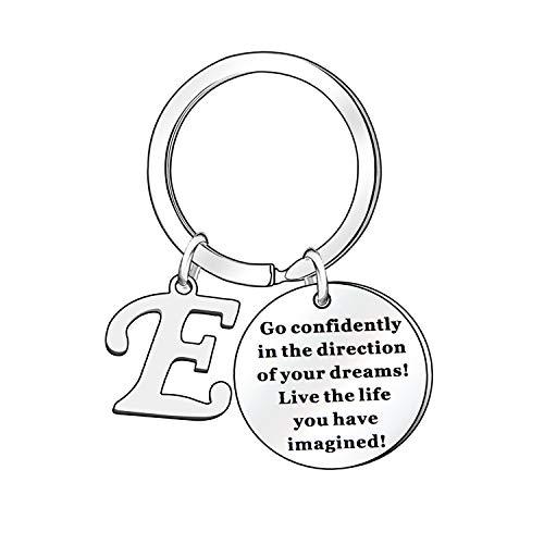 """Portachiavi a forma di lettera dell'alfabeto con scritta in lingua inglese """"A B C D E F G H I J K L M N O P Q R S T U V W X Y Z Jewellery Gifts"""