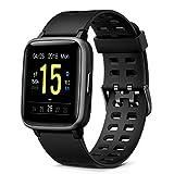 Glymnis Montre Connectée Femmes Homme Smartwatch Tracker d'Activité Étanche IP68 Podometre Cardio Sport Sommeil Calorie pour Android iOS Huawei Samsung Xiaomi (Noir)