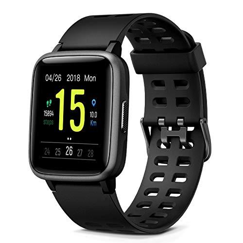 """Glymnis Smartwatch Smart Uhr Sport Uhr Fitness Armband mit Schrittzähler Schlafanalyse Touchscreen 50 M Wasserdicht Armbanduhr 30 Tage Standby 1,3\"""" großer Bildschirm"""