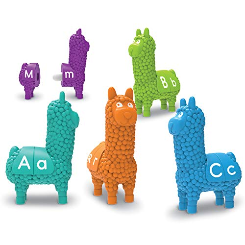 Learning Resources Snap-n-Learn Llamas, Early ABCs, Early Alphabet Recognition, Fine Motor Toy, Ages 18 mos+