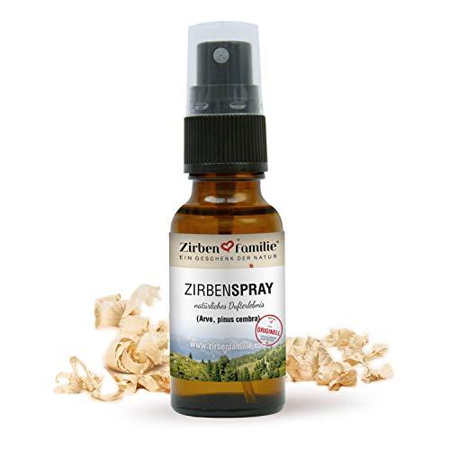 Zirben Familie - bekannt aus dem Fachhandel & der Hotellerie • natürliches ZirbenSpray 20ml • Wasserdampf-Destillat aus Österreich • Duftspray von Zirbenkiefern