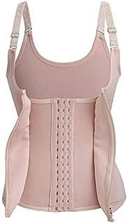 Women Underbust Corset Waist Trainer Body Shaper Vest with Adjustable Straps Plastic Waist Quick Weight Loss