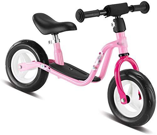 3 Jahre alt und 4 Jahre alt Kinder Balance Fahrrad 12 Zoll Junge und Mädchen Balance Bike Light Kind Fahrrad Gehen Fahrradhöhe Einstellbar,Pink