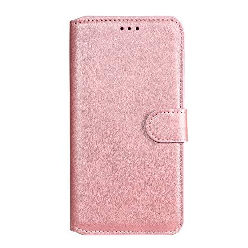 Hülle für LG K40S Hülle Leder,[Kartenfach & Standfunktion] Flip Case Lederhülle Schutzhülle für LG K40S - EYYY010664 Rosa Gold