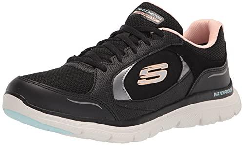 Skechers Damen Flex Appeal 4.0 True Clarity Sneaker, Schwarz, 38.5 EU