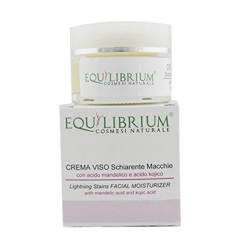 EQUILIBRIUM - COSMESI NATURALE Crema viso schiarente macchie 30 ml con Acido Mandelico e Acido Kojico