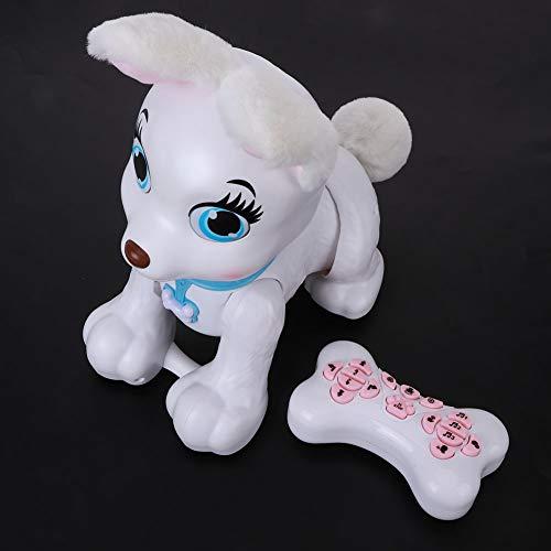 Cartoon Tiermodell Spielzeug Tier Hund Modell Spielzeug Fernbedienung Tierspielzeug Kinder Tiermodell Spielzeug mit leichter Musik für Kind(Corgi (white))