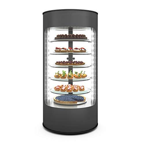 Vitrina Refrigerada Vertical 360° Serie DOLCE 3 a 5 estantes – 435 x 900 mm – SAYL – 5 estantes