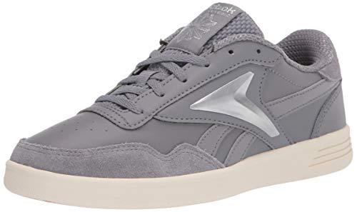 Reebok Women's Club MEMT Sneaker, Pure Grey/Chalk/Silver Metallic, 8.5