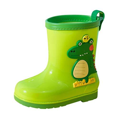 YWLINK Botas De Lluvia para NiñOs Dinosaurio De Dibujos Animados PVC Botas De Lluvia Antideslizantes Y Resistentes Al Desgaste Zapatos De Agua Ropa De Lluvia para Estudiantes Regalo
