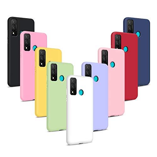 9X Cover per Huawei P Smart 2020, Custodie Morbido Silicone Case Tinta Unita Ultra Sottile TPU Flessibile Gomma Protezione Posteriore Antiscivolo Protettiva Skin Caso - 9 Colori