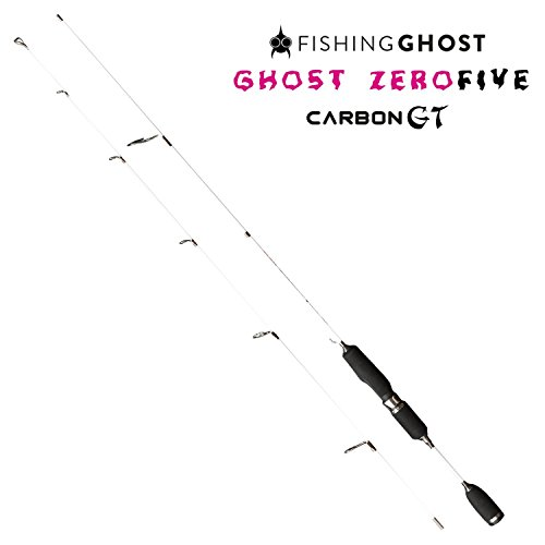 FISHINGGHOST Zero Five Carbon GT Ultralight Angelrute, 180cm, Wurfgewicht 1-5 Gramm - Spinnrute - Steckrute, Ultralight, solid Tip, voll parabolisch - extrem biegsam - direkte Kraftübertragung