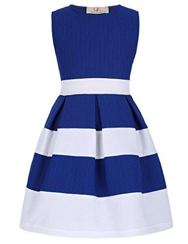 GRACE KARIN Maedchen Sommer Prinzessin festliches Kleid 6-7 Jahre CL8992-2