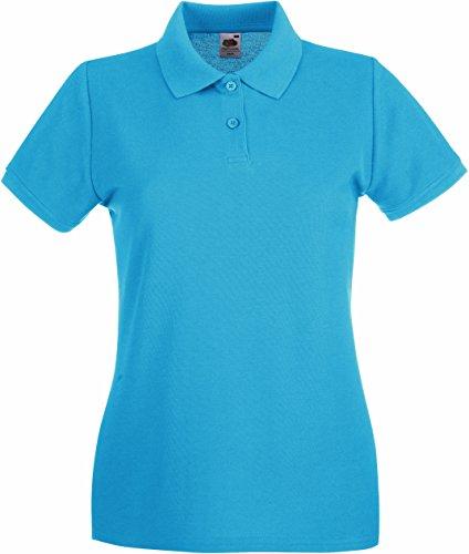 Fruit of the Loom Lady-Fit Premium Poloshirt 2017 XL Azure Blue