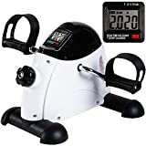 Under Desk Bike Pedal Exerciser - TABEKE Mini Exercise Bike for Arm/Leg Exercise, Mini Exercise...