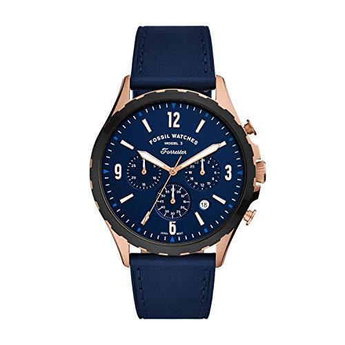 Fossil - Cronógrafo Forrester para Hombre, Reloj de Acero Inoxidable en Tono Dorado Rosa, FS5814