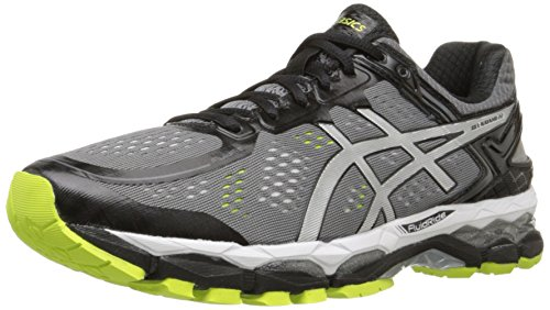 Price comparison product image ASICS Men's Gel Kayano 22 Running Shoe,  Charcoal / Silver / Lime,  6 M US