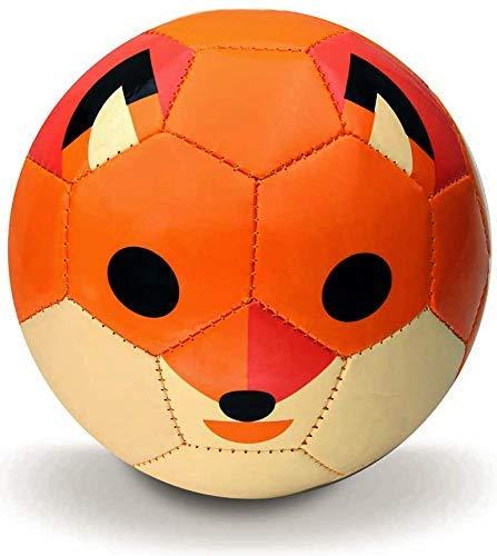 Toyshine Synthetic Leather Edu-Sports Football Soccer Educational Toy Ball for 4-8 Years Kids, Size 3 - Fox (Orange)