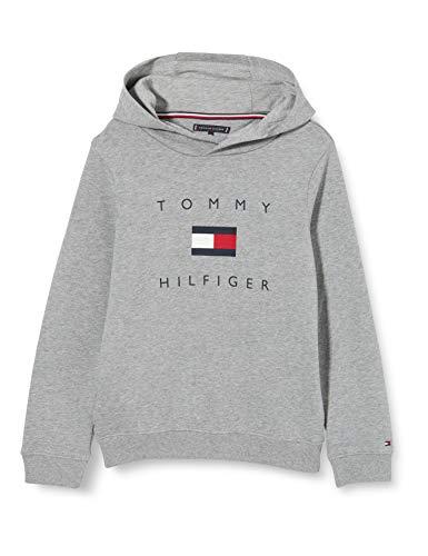 Tommy Hilfiger Herren Th Logo Hoodie Pullover, Mid Grey Htr, 10