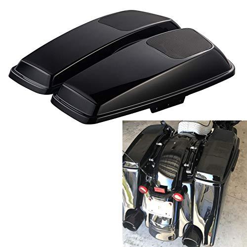 Us Stock 6 x 9 inch Vivid/Glossy Black Saddlebag Speaker Lids Audio Cover Fit for 2014 2015...
