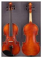 バイオリント子供用 4/4セミマットマスター手作りのプロのバイオリンの強い音色、弦の弓なし