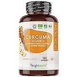 Crcuma Orgnica de 1520 mg con Jengibre y Pimienta Negra 180 Cpsulas Veganas -...
